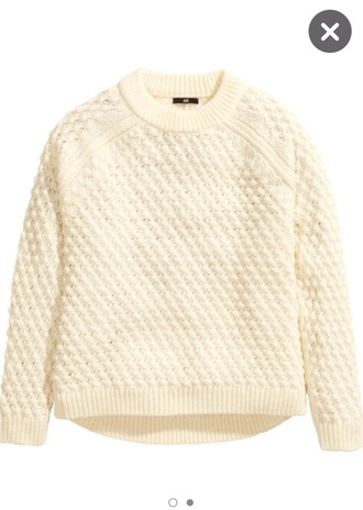 sweater cream soft patterned sweater