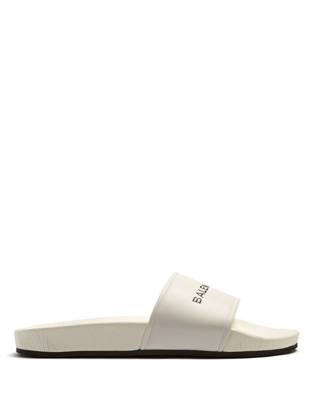 Balenciaga leather white black shoes