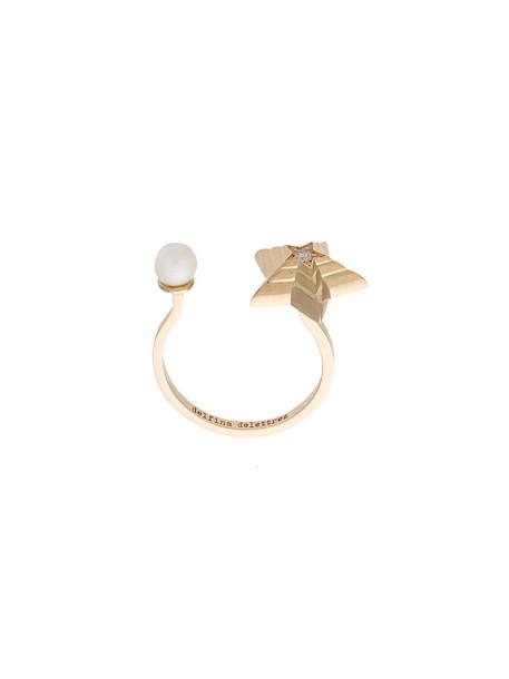 Delfina Delettrez women ring gold grey metallic jewels