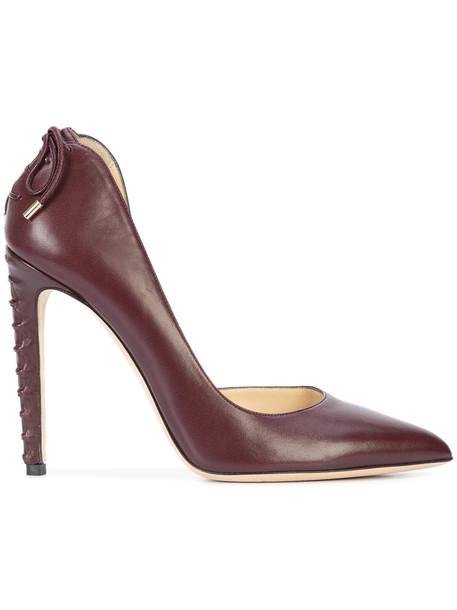 CHLOE GOSSELIN women pumps leather red shoes