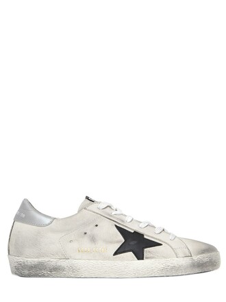 vintage sneakers leather silver white shoes