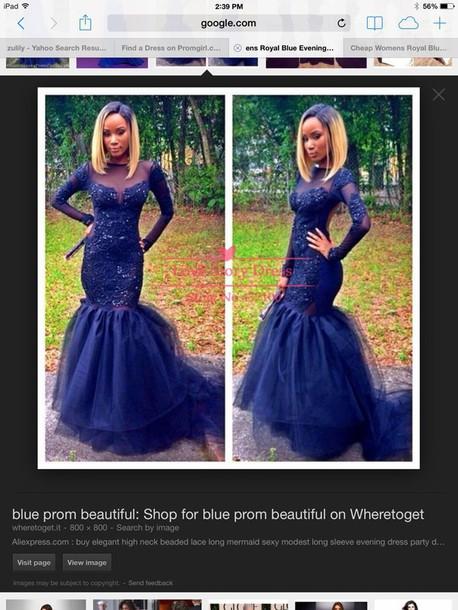 dress long sleeve blue lace dress s