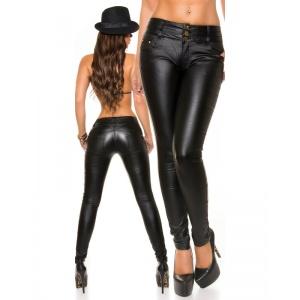 28d5dd0915 Női nadrág - skinny, bőrhatású, közepes derékmagaságú