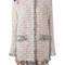Msgm - embroidery detail coat - women - cotton/linen/flax/acrylic/metallic (grey) fibre - 38, cotton/linen/flax/acrylic/metallic fibre