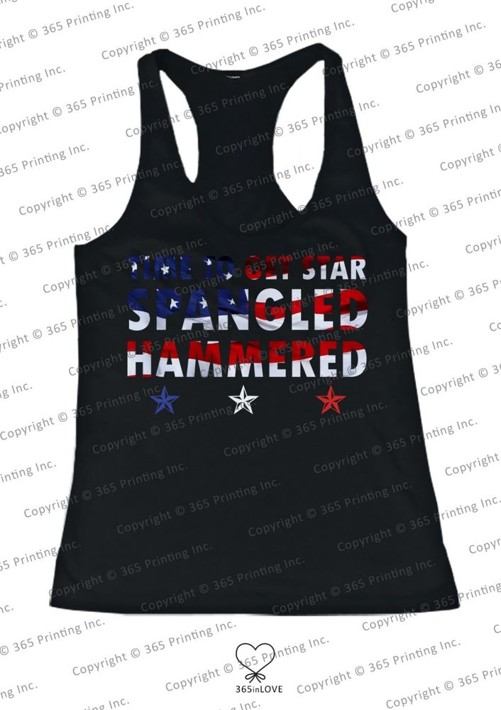 Red White and Blue American Flag Star Spangled Hammered Women's Tank Tops | eBay