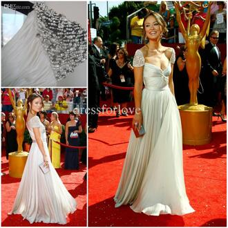dress maxi dress prom dress long prom dress white dress white silver red carpet red carpet dress
