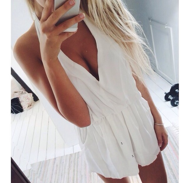 jumpsuit white jumpsuit romper white