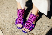 leopard print,purple shoes,blue shoes,pink shoes,shoes