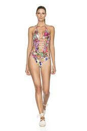 swimwear,agua bendita,designer one piece,one piece,print,strappy bikini,bikini,fashion,multicolor,bikiniluxe
