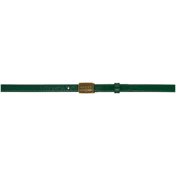 Gucci Green Patent Buckle Belt