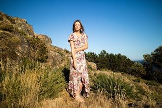 styling my life blogger dress jewels shoes maxi dress summer dress sandals fall dress