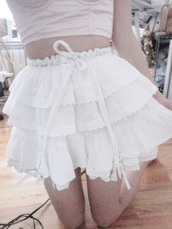 skirt,mini skirt,white,frilly,lace,bow,kawaii,pastel