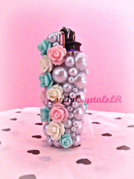 pearls jewels lighter roses purple flame