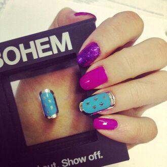 stars nail accessories