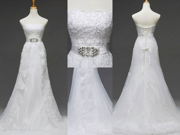 lace wedding dress strapless wedding dresses a-line wedding dresses wedding dress