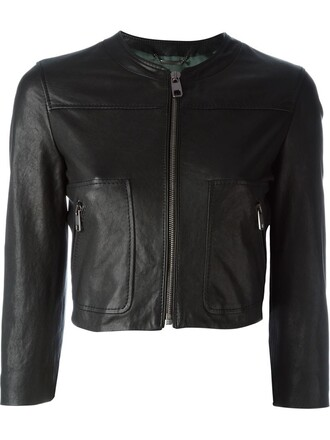 jacket cropped jacket cropped women spandex leather black silk