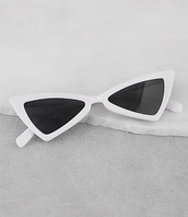 sunglasses,girly,trendy,white,sunnies,white sunglasses,cat eye,cat-eyed sunglasses,retro,retro sunglasses,accessories,Accessory