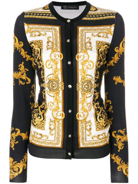 VERSACE cardigan cardigan women spandex print silk sweater