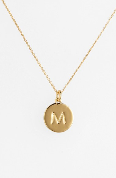 kate spade new york one in a million initial pendant necklace nordstrom
