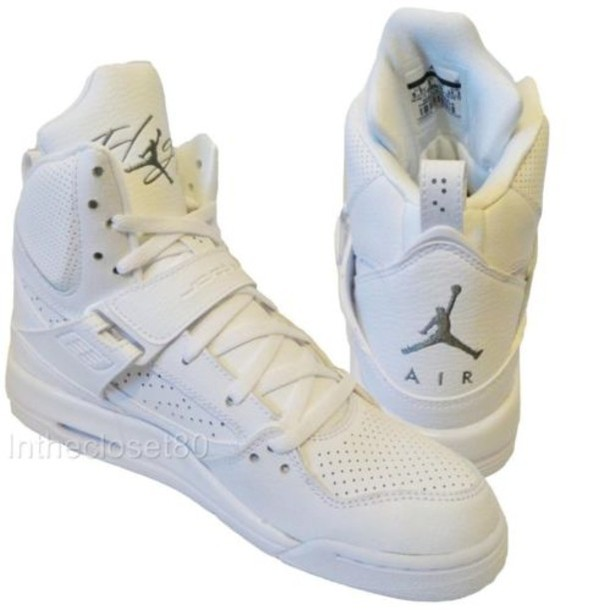 Shoes: Nike, Jordan, Grey, Swag, Jordan Flight, White