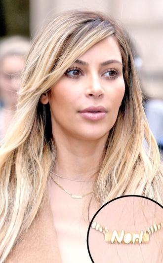jewels kim kardashian necklace necklace with a name