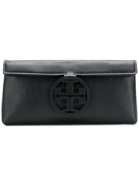 women clutch leather black bag