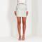Snake embossed mini skirt - light grey
