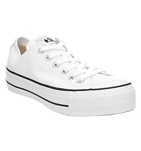 CONVERSE WOMENS CHUCK TAYLOR ALL STAR LO SHOE OPTICAL WHITE