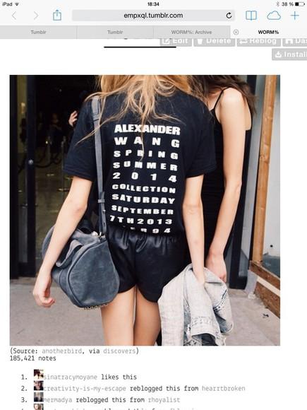 t-shirt alexander wang