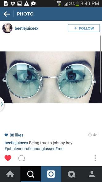 sunglasses lennon glasses round sunglasses