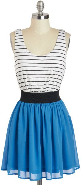 Modcloth Double Feature Film Dress in Blue (black) | Lyst