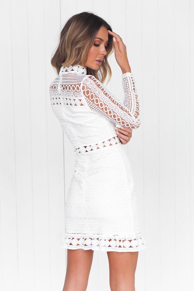 Riverdale Lace Dress (White)