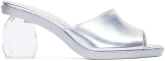 heels silver shoes