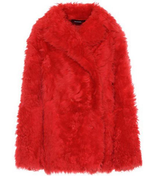 jacket fur jacket fur red