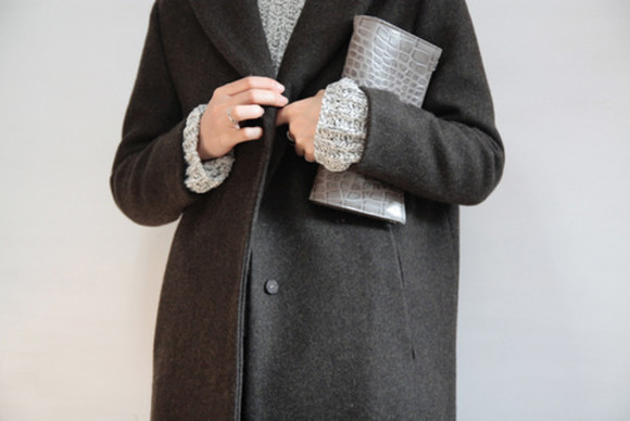 winter outfits wool grey