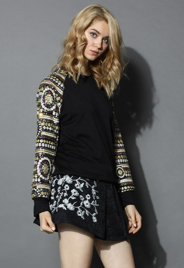 chicwish epic sequins sequins sleeves