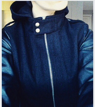 coat jacket black cute faux leather black jacket black coat cute jacket