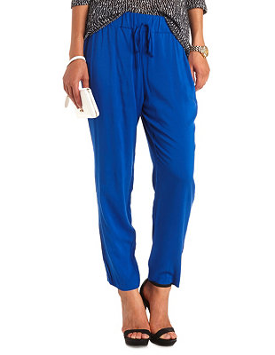 Waisted jogger pants: charlotte russe