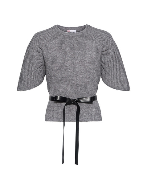 RED VALENTINO sweater flare grey