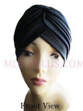 hat,chemo hat,hair loss hat,black turban,mondelusfashion,mondelus.com,headband,headwrap,headpiece