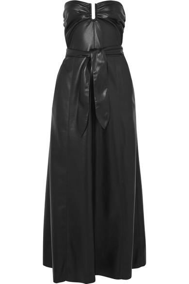 Nanushka - Anja strapless vegan faux leather midi dress