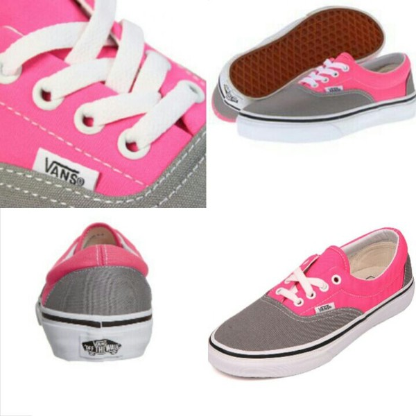 shoes pink grey vans era colorful hipster