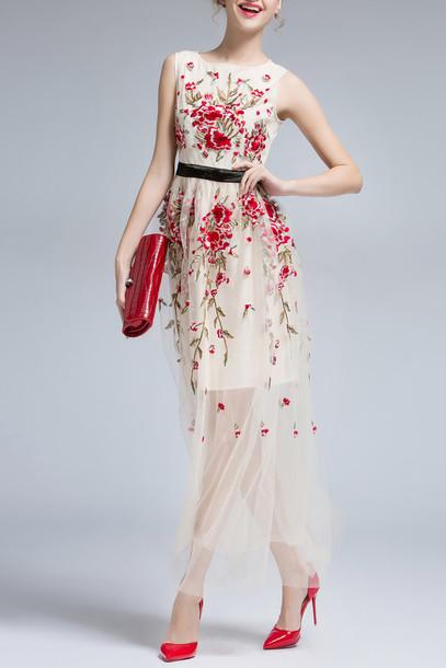 Elegant Long Floral Dresses