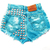 Wanderlust Turquoise Studded Shorts - Arad Denim