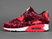 shoes,red,nike,air max,velvet