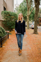 kelly in the city - a preppy chicago life,style and fashion blog,blogger,shoes,jeans,shirt,sweater,top,leggings,fall outfits,duck boots,boots