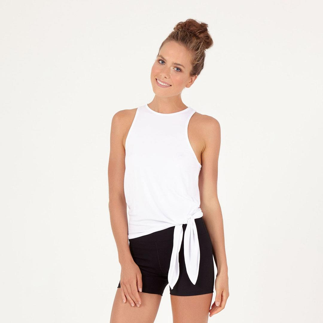 Bliss Tie Up Tank - White