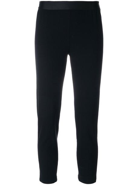 ANN DEMEULEMEESTER leggings cropped women spandex black wool pants