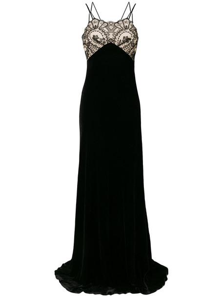 gown strappy women lace cotton black silk dress