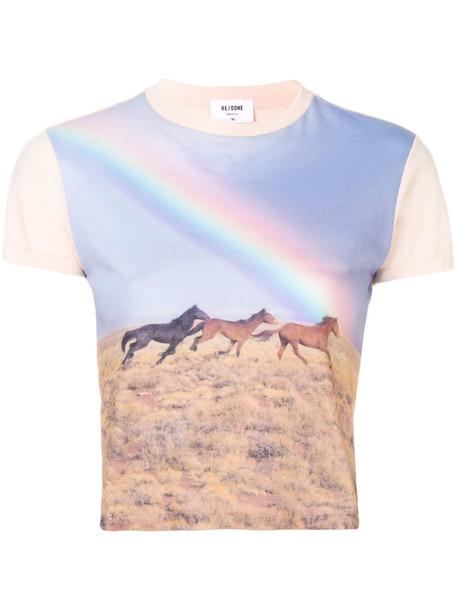 t-shirt shirt t-shirt horse women cotton top